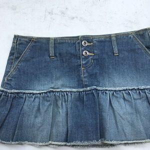 Dresses & Skirts - Distressed Denim mini skirt